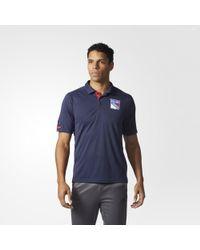 adidas - Rangers Pro Locker Room Polo Shirt - Lyst