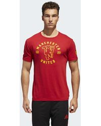adidas - Manchester United Linear Icon Tee - Lyst