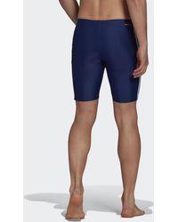 adidas 3-stripes Swim Lange Zwembroek - Blauw