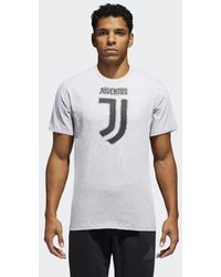 adidas - Juventus Brushed Stripes Tee - Lyst