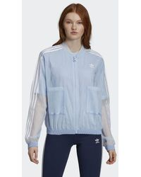 852e003accb adidas Quilted Track Jacket in Blue - Lyst