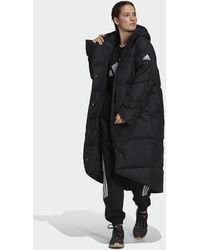 adidas Big Baffle Down Coat - Black