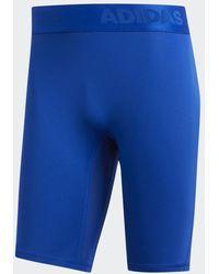 adidas Alphaskin Sport Korte Legging - Blauw