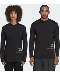adidas T-shirt Y-3 Zine Page-2 Long Sleeve - Noir