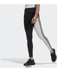 adidas Adicolor Sliced Trefoil High-waisted Legging - Zwart
