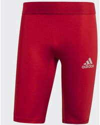 adidas Alphaskin Sport Korte Legging - Rood