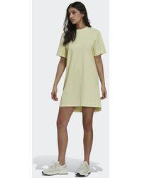 adidas Tennis Luxe T-shirt Jurk - Geel