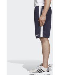 adidas Pantalón corto Essentials French Terry 3 bandas - Azul