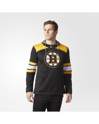 adidas - Bruins Jersey Replica Pullover Hoodie - Lyst