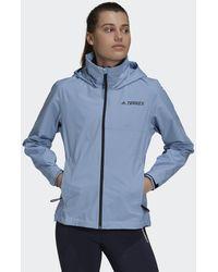 adidas Veste de pluie Terrex Multi RAIN.RDY Primegreen Two-Layer - Bleu