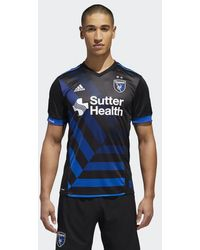 adidas - San Jose Earthquakes Home Authentic Jersey - Lyst
