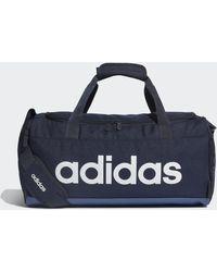 adidas Linear Logo Duffelbag - Blau