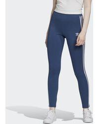 adidas Adicolor 3-Streifen Leggings - Blau