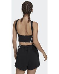 adidas Canotta Sportswear Cropped Ribbed - Nero