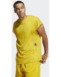 adidas Daniel Patrick X Basketball Engineered Tanktop - Geel