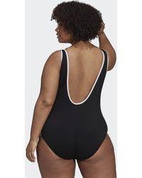 adidas Adicolor Classics Primeblue Swimsuit (plus Size) - Black