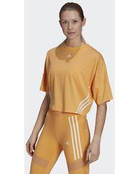 adidas Cropped T-Shirt - Orange
