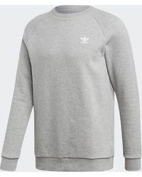 adidas - Loungewear Trefoil Essentials Crewneck Sweatshirt - Lyst
