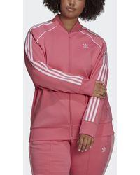 adidas Primeblue Sst Sportjack (grote Maat) - Roze