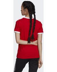 adidas T-shirt Adicolor Classics 3-Stripes - Rouge