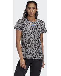 adidas Allover Print T-shirt - Zwart