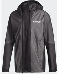 adidas Veste Terrex Waterproof Primeknit Rain - Noir