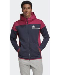 adidas Z.n.e. Aeroready Sweatshirt Met Rits - Blauw
