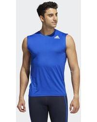 adidas Camiseta ajustada sin mangas Techfit - Azul