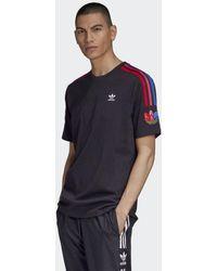 adidas Adicolor 3D Trefoil 3-Streifen T-Shirt - Schwarz