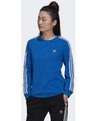 adidas T-shirt Adicolor Classics Long Sleeve - Bleu