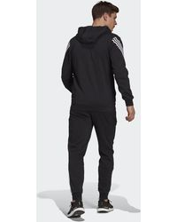 adidas Sportswear Cotton Fleece Tracksuit - Black