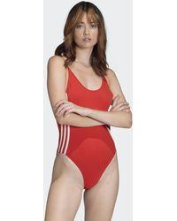 adidas Cotton Bodysuit - Red