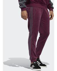 adidas - Sprt Velour 3-stripes Pants - Lyst
