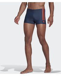 adidas Semi 3-stripes Swim Briefs - Blue