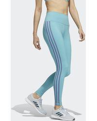 adidas Believe This 3-stripes Lange Legging - Groen