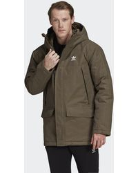 adidas Parka con capucha Padded - Verde