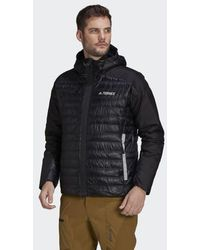 adidas Terrex Myshelter Down Hooded Jacket - Black