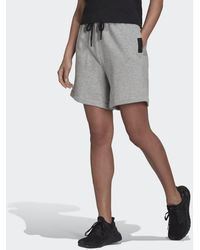 adidas Sportswear Studio Lounge Fleece Shorts - Grau