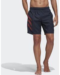 adidas Bold 3-stripes Clx Zwemshort - Blauw