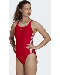 adidas Sh3.ro Classic 3-stripes Swimsuit - Red