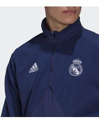 adidas Real Madrid Travel Fleece Jack - Blauw
