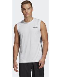 adidas Design 2 Move 3-stripes T-shirt - Wit