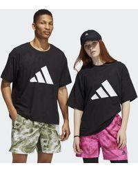 adidas Unite 3-stripes Floral T-shirt (gender Neutral) - Black