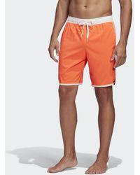 adidas 3-Streifen CLX Badeshorts - Rot