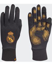 adidas Real Madrid Field Player Aeroready Gloves - Black