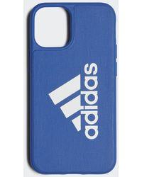 adidas Iconic Sports Case Iphone 2020 5.4 Inch - Blauw