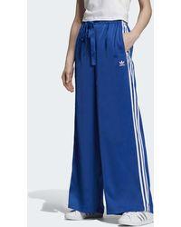 adidas Pantalon de survêtement Satin - Bleu
