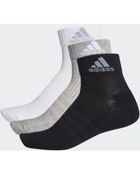 adidas 3-stripes Performance Enkelsokken 3 Paar - Zwart