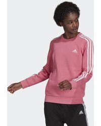 adidas Essentials 3-stripes Fleece Sweatshirt - Roze