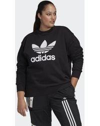 adidas Trefoil Sweatshirt (grote Maat) - Zwart